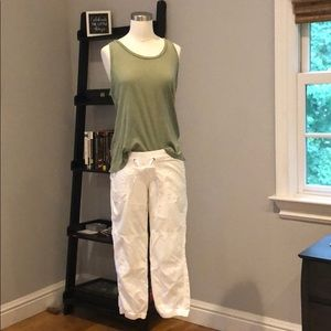 Women's cargo white Capri